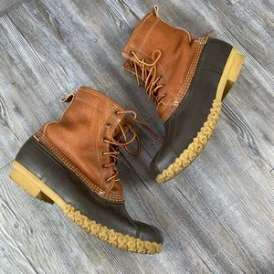 """L.L.Bean Boots 8"""" Tumbled Leather Fur Lined"""